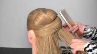 Видео-урок. Вечерняя прическа с длинными волосами.