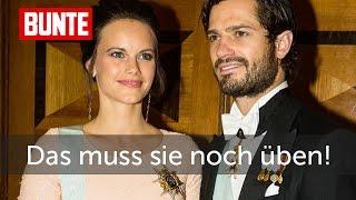 Sofia von Schweden - Ups! Das muss sie noch üben - BUNTE TV