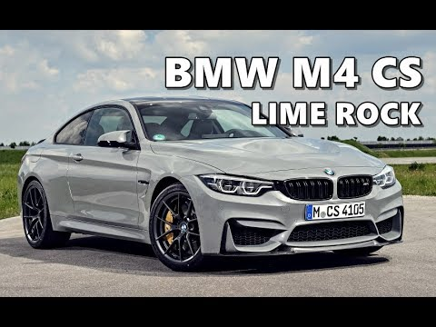 Bmw M4 Cs In Lime Rock Grey Youtube
