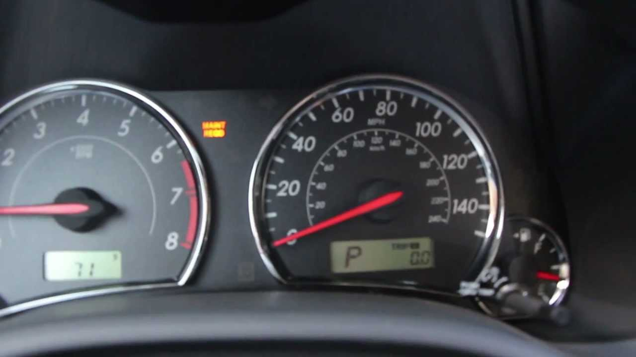 Maintenance Required Light Toyota Corolla