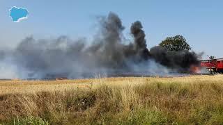 Grote brand in graanveld Blijham is geblust