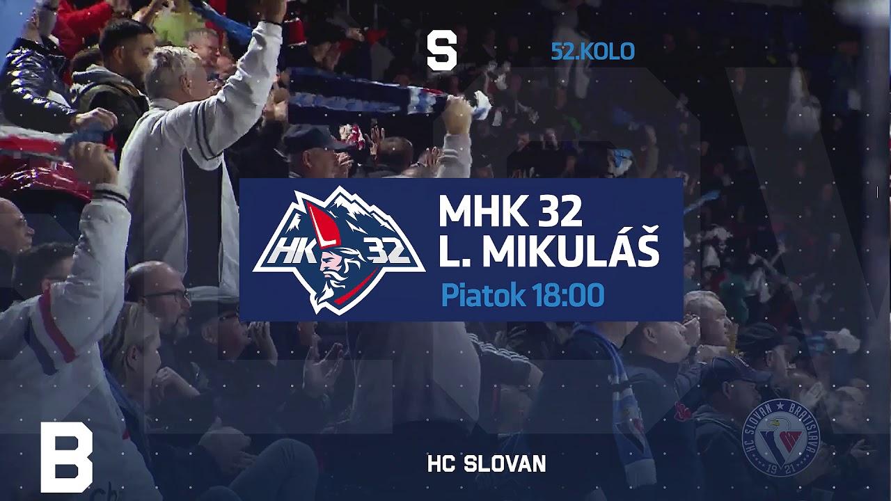HC SLOVAN Bratislava sa v domácom prostredí stretne s MAC Újbuda a Liptovským Mikulášom.