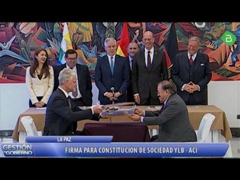 Alemania Y Bolivia Firman Constitución de Sociedad YLB - ACI - Industrialización de Litio /Resumen