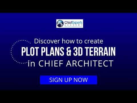 Create Plot Plans & 3D Terrain in Chief Architect - Free Live Webinar