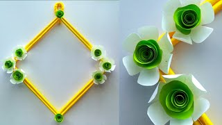 Amazing and beautiful Paper flower wall hanging / Diy paper flower wall hanging / Easy Home decor