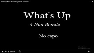 Download Mp3 What's Up 4 Non Blonde Easy Chords And Lyrics