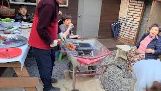 #귀촌일기ㅡ#먹방# 닭고기 # 고추장 숯불구이