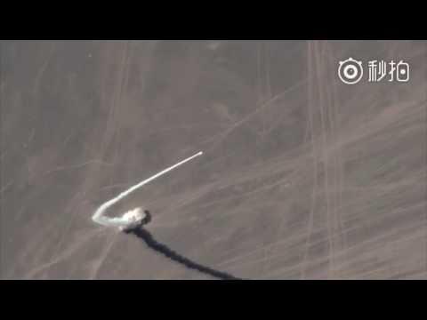 Amazing satellite footage of Chinese rocket launch
