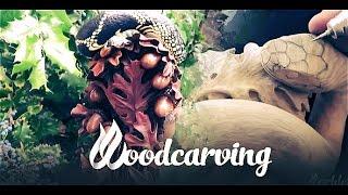 Woodcarving Cobra Snake ►► Змея Кобра Урок Резьба по дереву Part 3