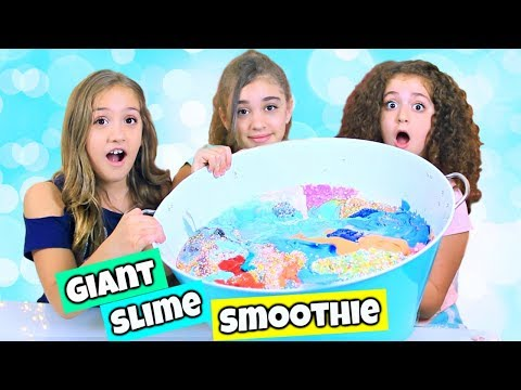 Giant SLIME Smoothie! We're Mixing All of Our Slimes!