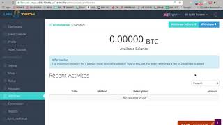 How To Withdraw Bitcoins from USI TECH