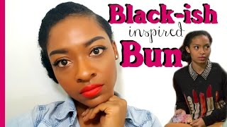 Black-ish Inspired Zoey Bun | Natural Hairstyles for Black Women