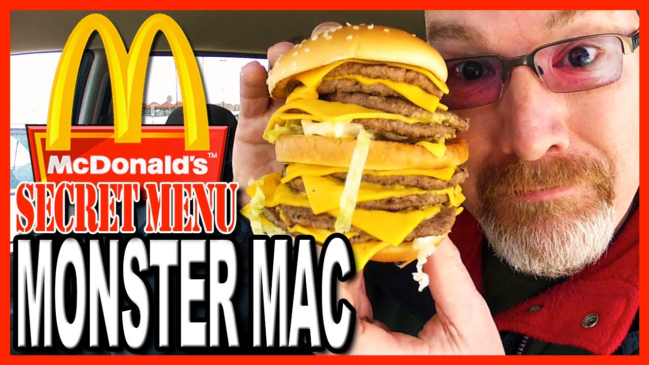 McDonald's ★Secret Menu Item★ MONSTER MAC Challenge | KBDProductionsTV