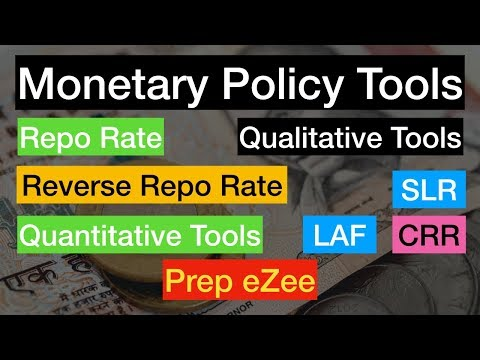 Economy 5-3 Monetary Policy Tools  Qunatitative, Qualitative, CRR, SLR, MSF, LAF and Others
