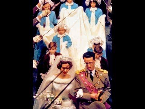 Scenes from wedding of King Baudouin to Queen Fabiola 15 December 1960