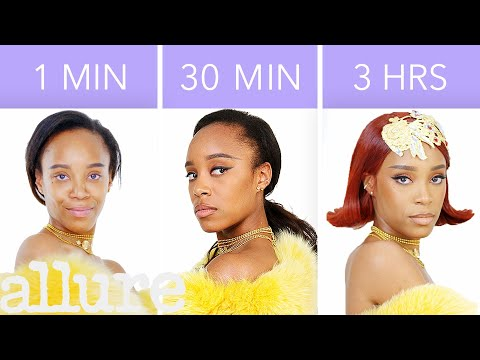 Getting Rihanna's Look in 1 Minute, 30 Minutes, and 3 Hours - Makeup Challenge | Allure