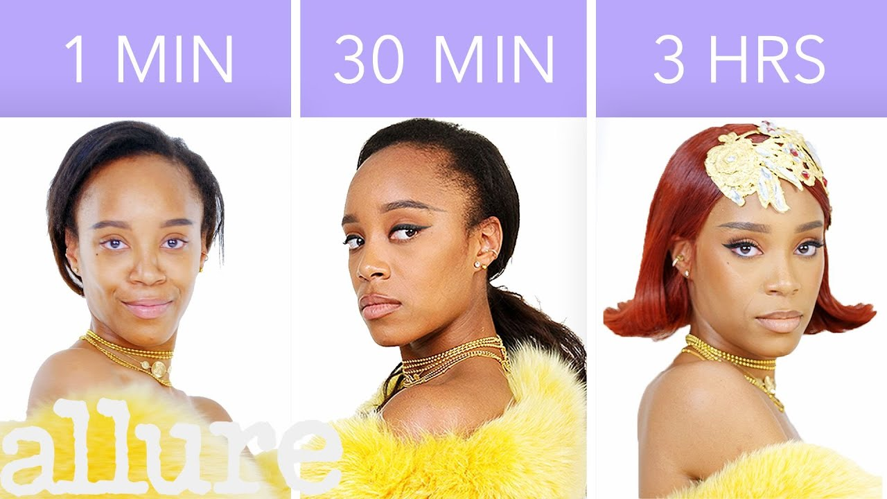 Makeup Artist Recreates Rihanna's Look in 1 Minute, 30 Minutes, and 3 Hours | Allure