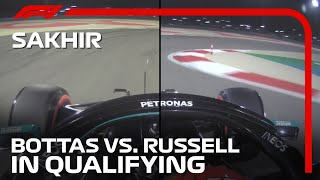 Valtteri Bottas and George Russell's Mini Sectors Compared | 2020 Sakhir Grand Prix
