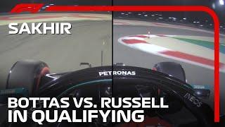 Valtteri Bottas and George Russell's Mini Sectors Compared | 2020 Sakhir Grand Prix