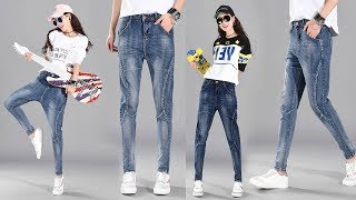 Women Summer Trousers Jeans Denim Pants Review | Best Jeans For Women Fashion 2018