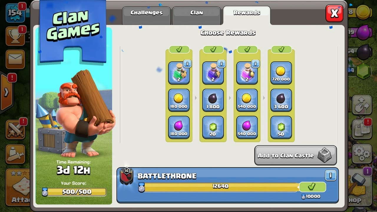 Clan Games Complete Clash Of Clans New Update