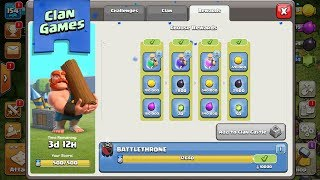 CLAN GAMES COMPLETE!! Clash Of Clans NEW UPDATE!!!