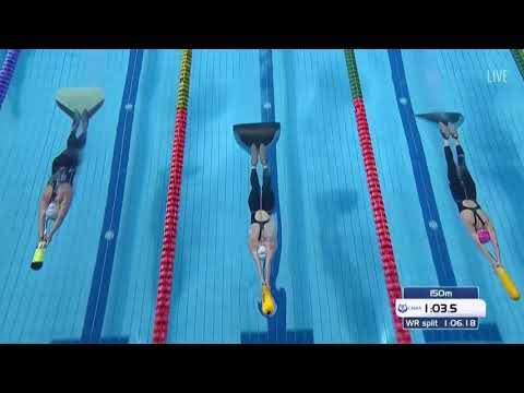 400m Immersion Women  Heat 2 20th Finswimming World Championship 2018