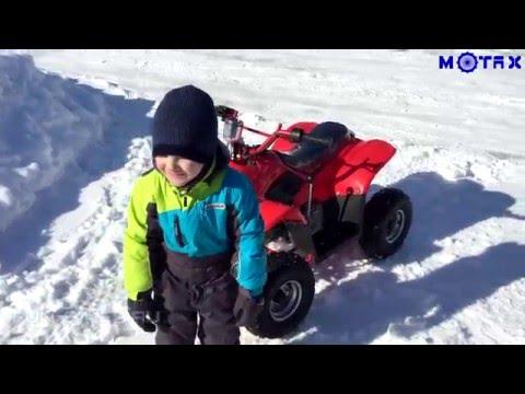 Первый тест драйв подросткового квадроцикла MOTAX ATV A-07 110 cc