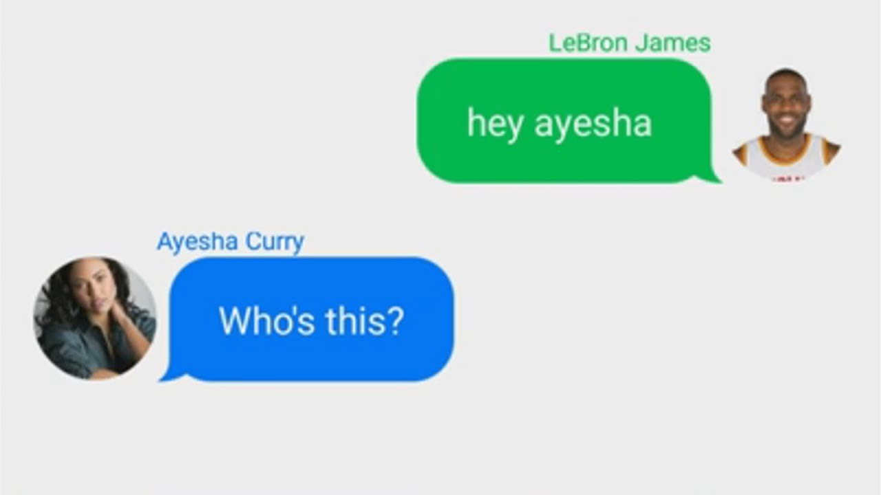 e05e61c9db3 LeBron James Texting Ayesha Curry (Stephen Curry's Wife) - YouTube