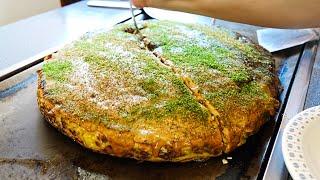 【和歌山 橋本】超巨大お好み焼きの作り方「お好み焼 ぼて福」Japanese food Huge okonomiyaki in Wakayama July 29th, 2021
