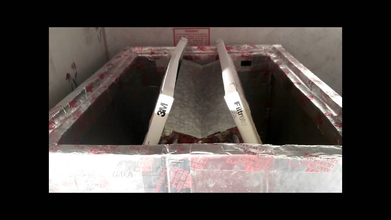 HVAC Building an Air Filter Base for Downlflow Mobile Home Evaporator Coil Air Conditioner