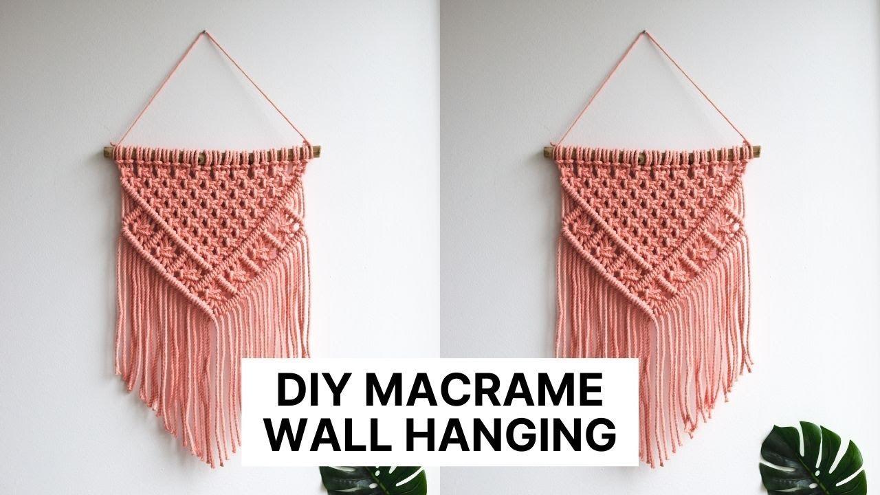 Chain Stitch Macrame Wall Hanging