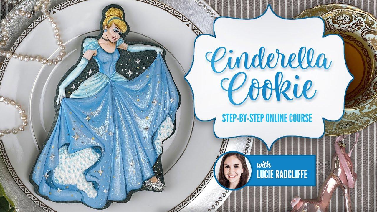 NEW ONLINE COURSE - Cinderella Cookie Tutorial - ON SUGAR GEEK SHOW