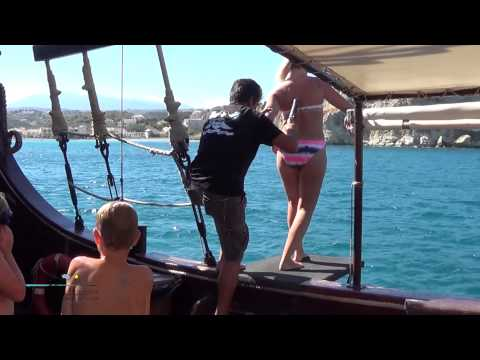 Pirate Boat Cruise in Souda Bay Crete