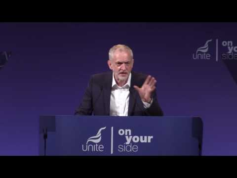 Jeremy Corbyn at Unite Policy Conference