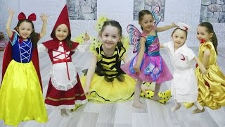 Öykü'nün Kostüm Partisi - Pamuk Prenses Winx Kırmızı Başlıklı Kız Hemşire Arı Maya Prenses Bella