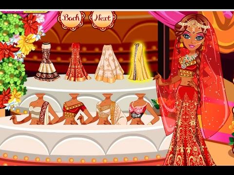 Barbie Indian Sari (Saree) dressup - barbie dressup games for girls - in english (new episode)