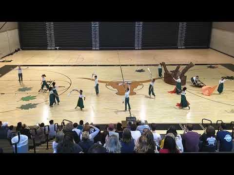 Kell High School Winter guard send off performance. 2019.