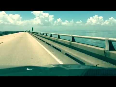 Driving across Lake Pontchartrain