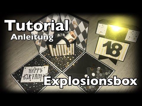 Explosionsbox 18. Geburtstag, Tutorial / Anleitung, Geburtstagsgeschenk, DIY, Scrapbook