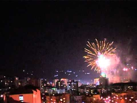 "Bor City, fireworks 2012. (""Thunderstruck"" by AC/DC)"