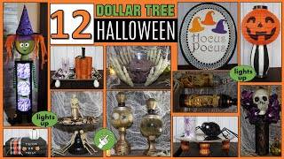 12 DOLLAR TREE DIY HALLOWEEN DECORATIONS 🎃 EASY HALLOWEEN CRAFTS 🎃 FABEDhacks