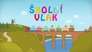 Kreslené animované video - Školní vlak - výukový portál