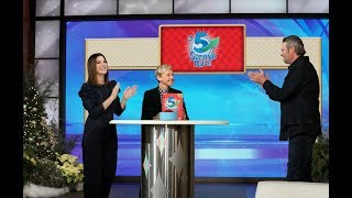 "Ellen put together the unlikely duo of Sandra Bullock and Blake Shelton to face off in a game of ""5 Second Rule."" Find out what the Oscar winner does after her kids go to bed, and which of Sandra Bullock's movies are the country music superstar's favorites.  #TheEllenShow #SandraBullock #BlakeShelton"