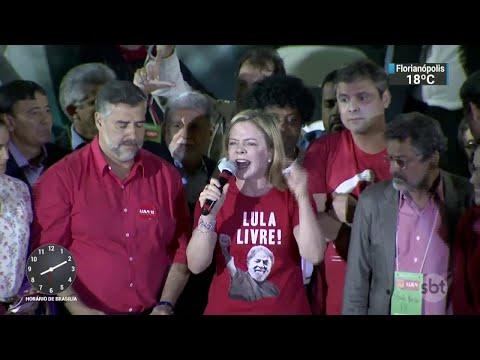 Lula é confirmado como candidato à presidência pelo PT | SBT Brasil (04/08/18)