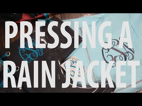 How to heat press a Rain Jacket with vinyl