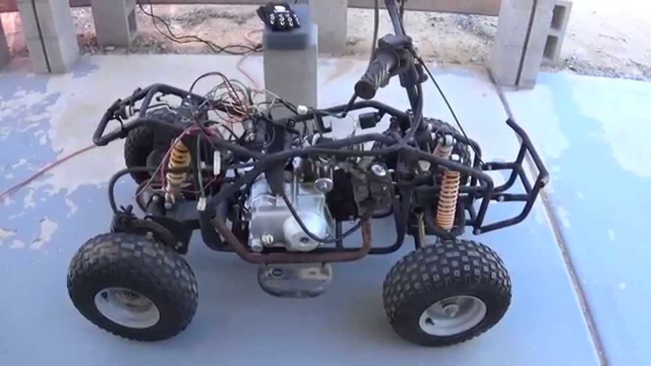 Chinese Quad 110cc wiring hack making SPARKS !!! No clue