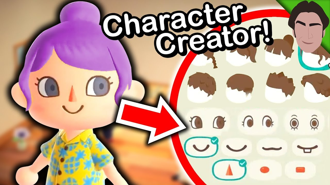 Full Character Creator Revealed Animal Crossing New Horizons