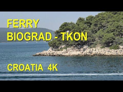 Ferry Biograd - Tkon, Croatia  (4K Ultra HD)
