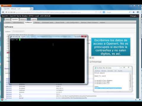 Instalar Cliente Torrent (Transmission) en router con OpenWRT y que descargue en USB